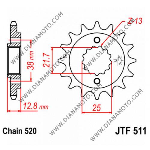 Зъбчатка предна JTF 511 - 14 к. 7733