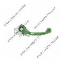 Ръкохватка спирачка спортна къса чупеща зелена Kawasaki KX 250 KX 450 13-14 к. 9479