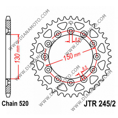 Зъбчатка задна JTR 245/2 - 53 к. 8009