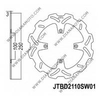 Спирачен диск преден Kawasaki KX125-250 89-02 KLX300 KLX650 ф 250х10х3 мм 4 болта JT 2110 к. 9005