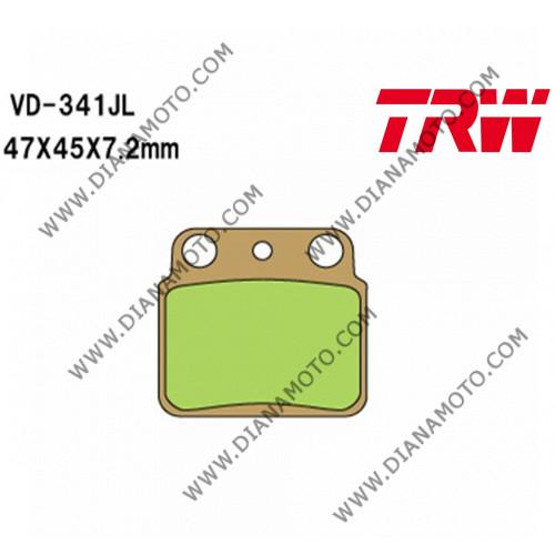 Накладки VD 341 LUCAS TRW MCB626 СИНТЕРОВАНИ к. 28-97