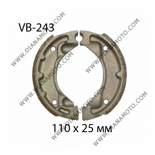 Накладки VB 243 ф 110х25мм EBC 530 Yamaha  к. 787
