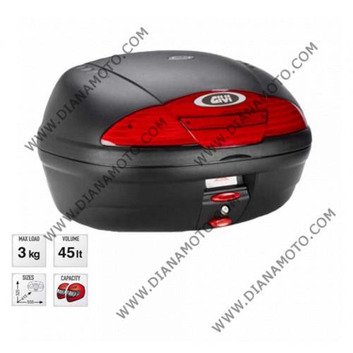 Куфар GIVI 45 литра E450NMAL Simply II Monolock Черен к. 266