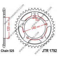 Зъбчатка задна JTR 1792 - 42 = 2061 - 42 к. 1982