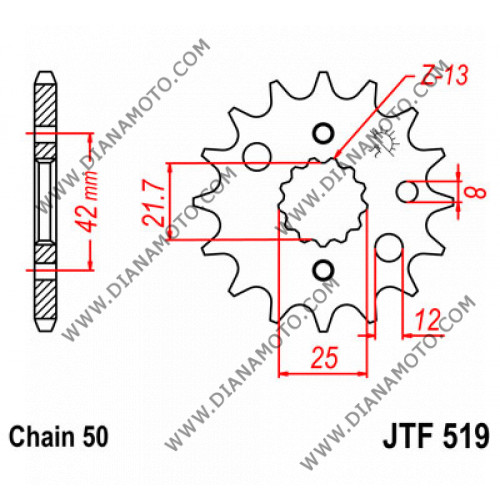 Зъбчатка предна JTF 519 - 15 к. 6393