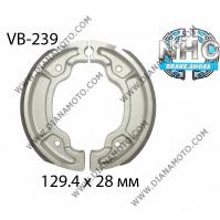 Накладки VB 239 ф 129.4х28мм MBS2220 EBC 527 DUNLOP 9151 FERODO FSB947 к. 14-65
