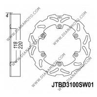 Спирачен диск заден Suzuki RM 125 - 250 89-98 DR-Z 400 00-08 ф 220х118х4 мм 6 болта JT 3100 к. 9008