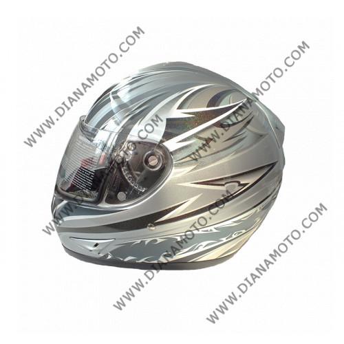 Каска VR1 A2700 сиво-сребристо к. 5678
