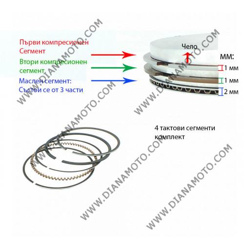 Сегменти 57.00 мм 1.0 + 1.0 GY6 150 4T к. 7907