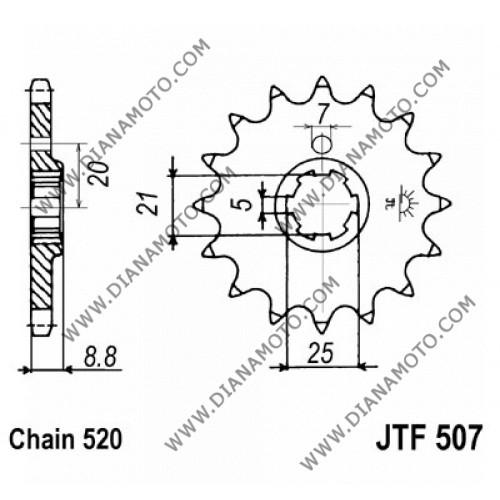 Зъбчатка предна JTF 507 -14 к. 3976