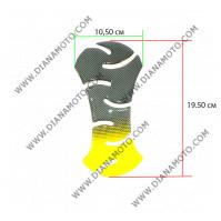 Протектор за резервоар Карбон-жълт к.11731