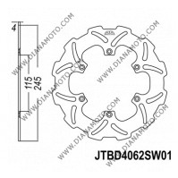 Спирачен диск заден Yamaha YZ 125 - 450 ф 245x115x4.0 мм 6 болта JT 4062 к. 9014