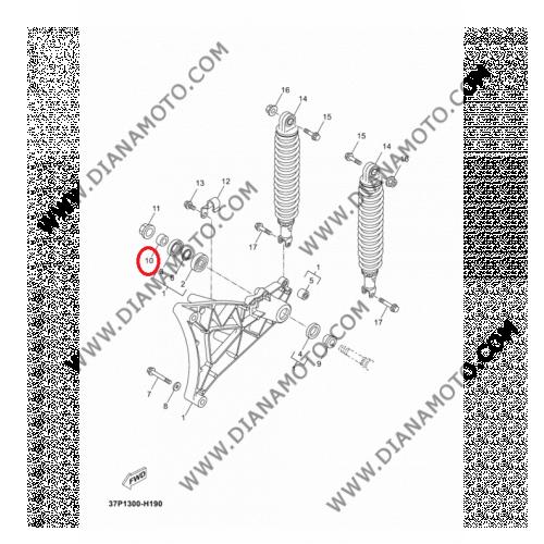 Втулка Yamaha Majesty 250 Xmax 250 X-City 250 Vercity 300 OEM 9038717X01 к. 21-1161