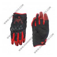 Ръкавици FOX с протектори черно-червено L к. 16-84