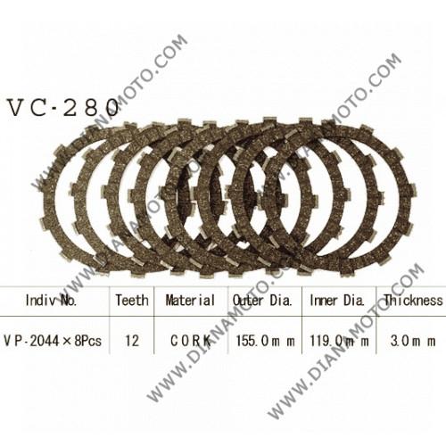 Съединител  NHC 155x119x3 - 8 бр 12 зъба CD2274 R Friction Paper к. 14-191