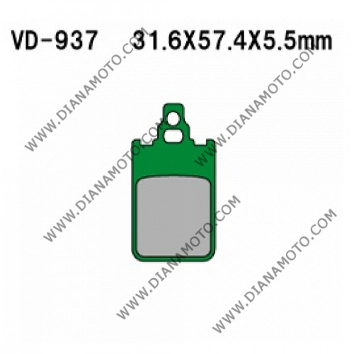 Накладки VD 937 EBC FA116 FERODO FDB697 LUCAS MCB578 Ognibene 43015100 Органични к. 41-123