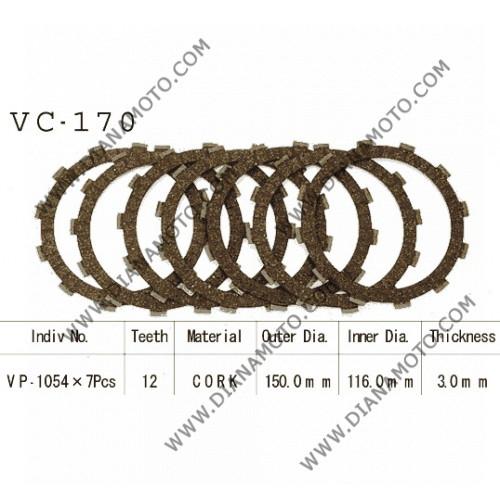 Съединител NHC  150x116x3.0-7бр 12 зъба CD1170 R Friction paper к. 14-162