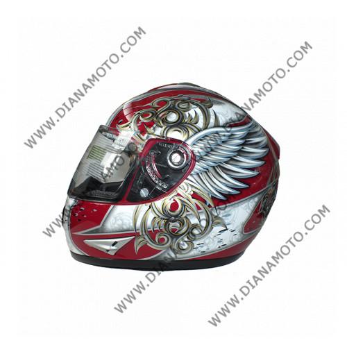 Каска VR1 2700 червено-сребриста #19 XL к. 7523