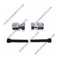 Ролки за задна стойка Suzuki GSXR 600 01-08 GSXR 750 01-08 GSXR 1000 01-08 хром к. 9055