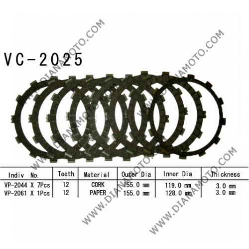 Съединител NHC 155x119x3 -7 бр 155x128x3 -1 бр 12 зъба CD2364 R Friction paper к. 14-213