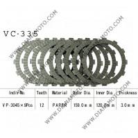 Съединител NHC 159x120x3 -9 бр 12 зъба CD3335 R Friction Paper к. 14-214