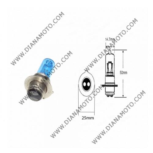 Крушка за фар 12V/25/25W 1 краче халоген P15D-1 к. 5343