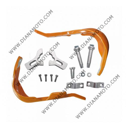 Предпазители за кормило с алуминиева рамка ф 22 мм оранжев к. 7413
