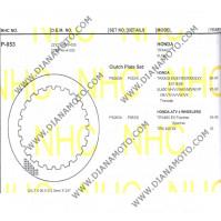 Метални дискове за съединител NHC P053 Honda 124.7x90x2  24 зъба к. 14-264