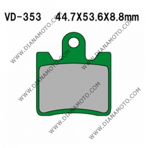 Накладки VD 353 EBC FA423/4 FA283 FERODO FDB2085 LUCAS MCB706 Nagano Органични к. 2228