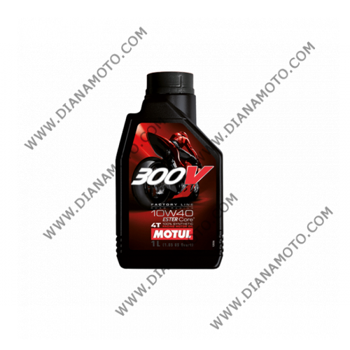 Масло Motul 300V 4T 10W40 Пълна синтетика 1 литър k. 3681