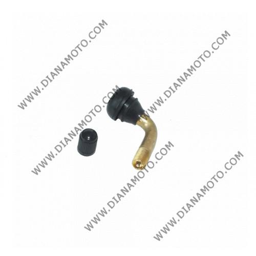 Вентил за безкамерни гуми крив IRC PVR 70 90 градуса к. 1-27