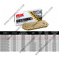 Верига RK 520 MXZ4 Cross GOLD - 120L к. 2074