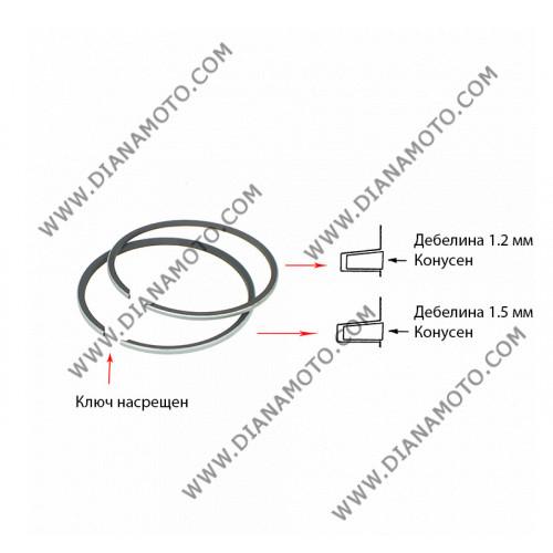 Сегменти 39.00 мм 1.2 конус + 1.5 конус насрещен ключ 2T к. 8354