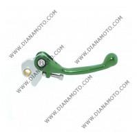 Ръкохватка спирачка спортна къса чупеща зелена Kawasaki KX 125-250-450-500 F к. 9476