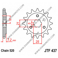 Зъбчатка предна JTF 437 - 15 к. 4529