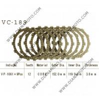 Съединител NHC 152x119x3.8 - 9 бр. 12 зъба CD5589 R Friction paper к. 14-379
