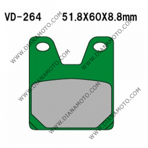 Накладки VD 264 EBC FA267 FERODO FDB2084 LUCAS MCB702 Органични k. 4067