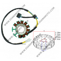 Статор KYMCO Dink  125-200 бобини 11 ф 93 мм 5 кабела равен на код RMS 246350240 к. 10433