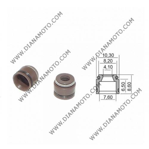 Гумички за клапан Suzuki Burgman 125-400 GSXF 750 4.1x7.6x6.5-8.6 равни на код RMS 100669280 к. 9584