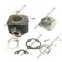Цилиндър к-т с глава и гарнитури Yamaha Jog 3KJ Jog 3YK Jog 3YJ Aprilia Bennelli Beta CPI KTM Malaguti MBK PGO REX 70 ф 47.00 мм болт 10 мм AC равен на код RMS 100080490 к. 6095
