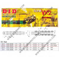 Верига DID 520 VX2 G&B - 86L к. 7650