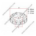 Статор KYMCO GY6 125-150 1+7 бобини Ф 88 мм 5 кабела к. 3-211