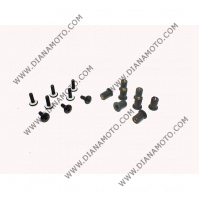 Болтове закрепващи спойлери и слюда к-т универсални 5x15 Черни 8 броя к. 3501