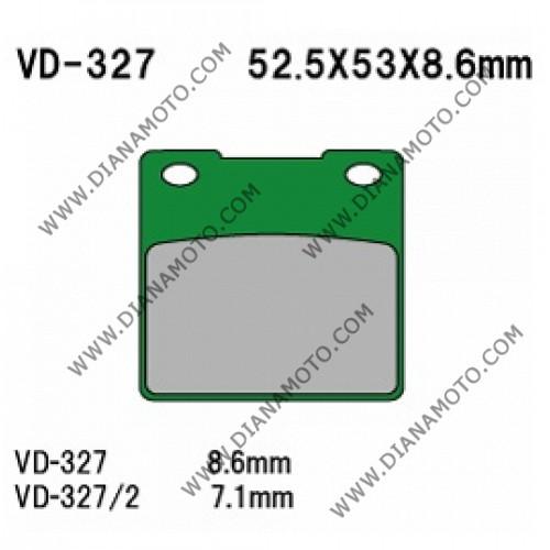 Накладки VD 327/2 EBC FA161 Nagano Органични к. 2272