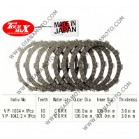 Съединител 136x101x3 -7бр 136x108x3 -1бр 10 зъба Tourmax Japan k. 11101