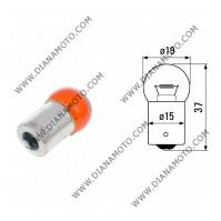 Крушка за мигач 12V/10W BA15S G18 оранжева равна на код RMS 246510215 к. 561