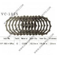 Съединител NHC 152x119x3.8 -10бр 12 зъба CD1290 R Friction Paper к. 14-180