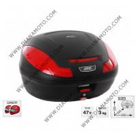 Куфар GIVI 47 литра Е470 Simply III Monolock червен рефлектор к.7818