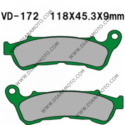 Накладки VD 172 EBC FA388 SBS 192 FERODO FDB 2196 Органични к. 8523