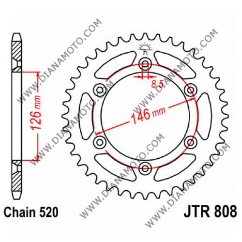 Зъбчатка задна JTR 808 - 41 к. 2005
